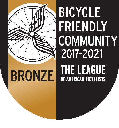 Bike Friendly Community Bronze Award seal